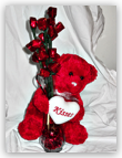 Valentines or Mother's Day Teddy Bear Vases
