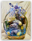 Baby Shower Blue or Pink Basket